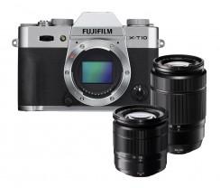 FUJI  X-T10 KIT  XC16-50mm + XC 50-230mm silber
