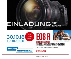 CANON  EOS R VIP-Event 30.10.18 15:30-19:00