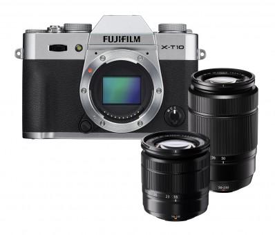 FUJI  X-T10 KIT  XC16-50mm + XC 50-230mm silber***