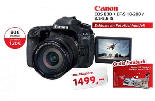 CANON EOS 80D + EFS 18-200 IS + HD ALBUM