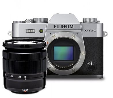 FUJI X-T20 + XC 16-50mm II silber
