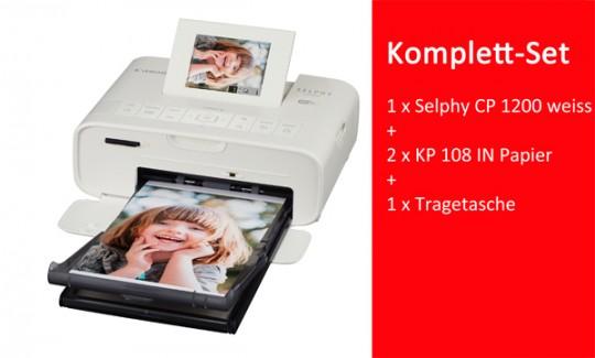 CANON SELPHY CP1200 WEISS KOMPLETTSET