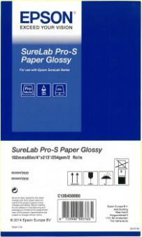 """EPSON SURELAB PRO-S PAPER GLOSSY 4""""X65M 2ROLLEN"""