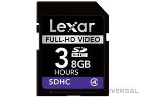 LEXAR SD-KARTE 8 GB SHDC FULL-HD VIDEO *AKTION*