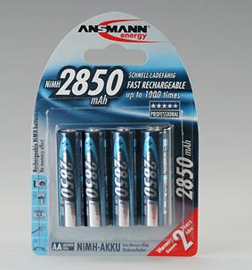 ANS NiMH-AKKU MIGNON 2850 MAH (AA) 4er-BLISTER