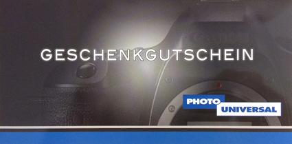 PHOTO UNIVERSAL GESCHENKGUTSCHEIN