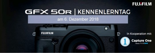 FUJIFILM GFX-R Kennenlernen am Donnerstag 6.12.2018 Nikolaus