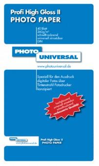 PHOTO UNIVERSAL PROFI HIGH GLOSS II 40 BL A4 260GR