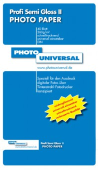 PHOTO UNIVERSAL PROFI SEMI GLOSS II 40 BL A4 260GR