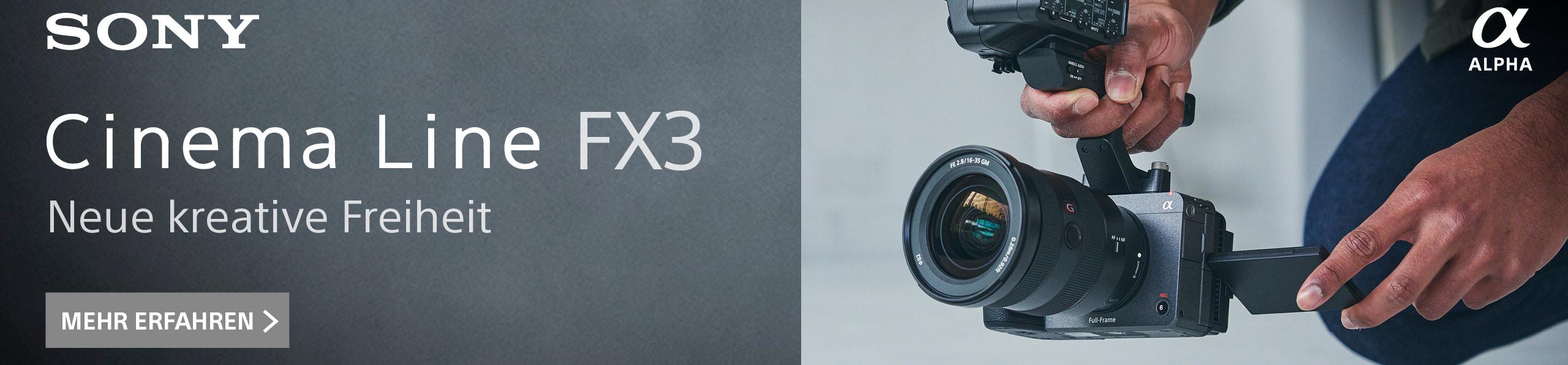 Sony FX3 Banner