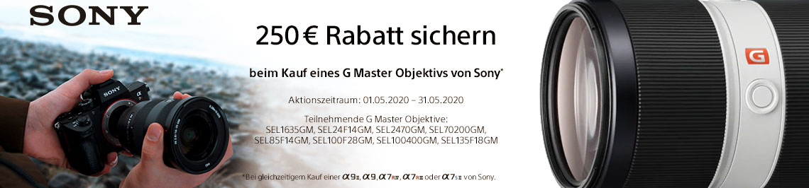 Sony GMaster Bundle Aktion