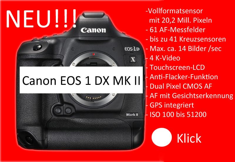 Die neue Canon EOS 1 D MK II