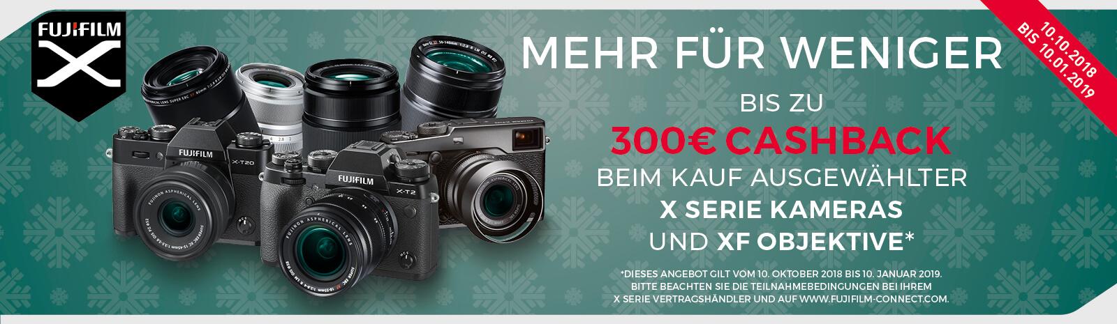 FujiFilm Winter Cashback bei Photo Universal Stuttgart