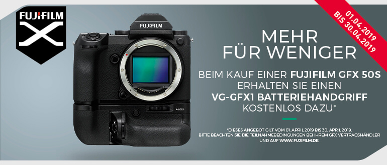 Fuji GFX Sofortrabatt bei PHOTO UNIVERSAL Stuttgart