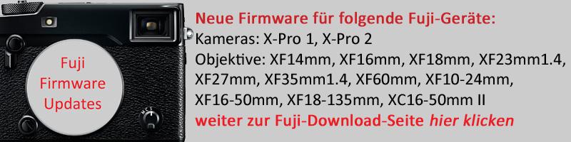 Neue Fuji Firmware-Updates