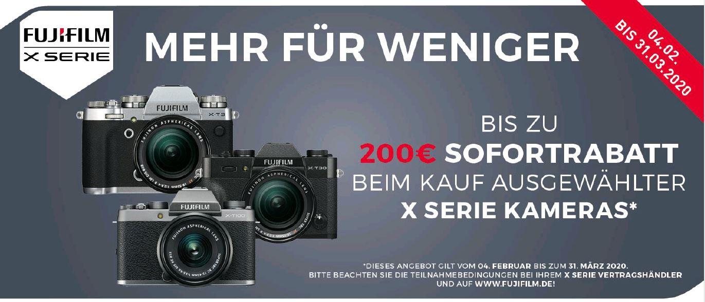 FujiFilm Sofortrabatt für X-Kameras