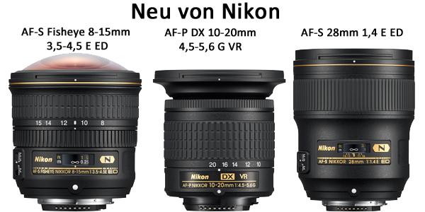Neue Nikon Objektive