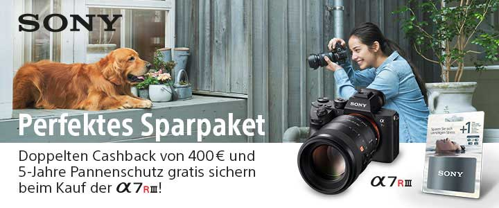 Sony doppleter Cashback bei PHOTO UNIVERSAL