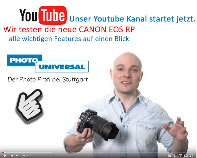 PHOTO UNIVERSAL Tech review Canon EOS RP