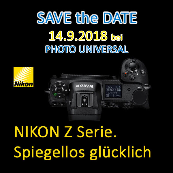 Save the Date 14.9.2018 bei PHOTO UNIVERSAL