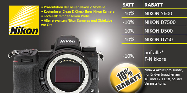 Photo Universal Open House Rabatt Nikon
